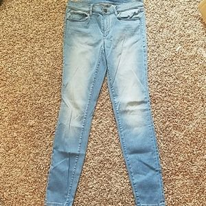 LOFT light wash skinny jeans